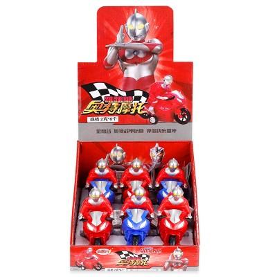 金稻谷奥特曼摩托车玩具糖果卡通糖玩儿童休闲零食小礼物整盒批发