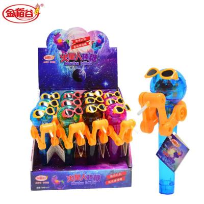 金稻谷棒棒糖机器人网红同款吃糖人玩具儿童糖果