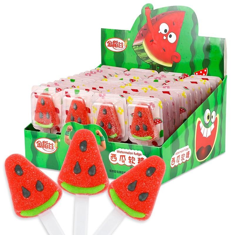 金稻谷西瓜软糖儿童糖果小零整箱批散装