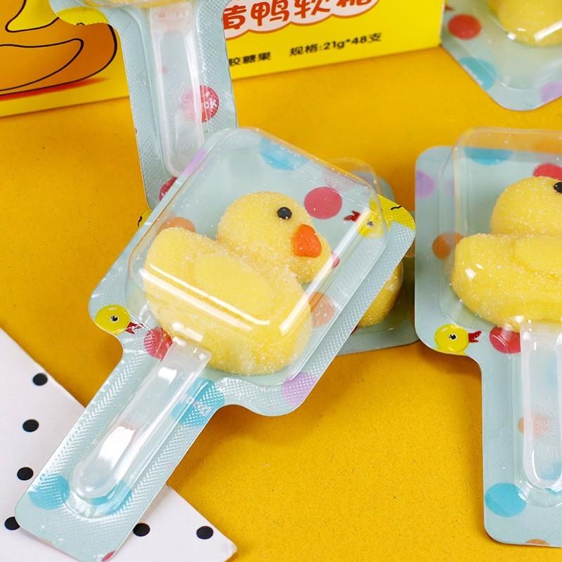 金稻谷小黄鸭软糖网红创意可爱儿童糖果小零食