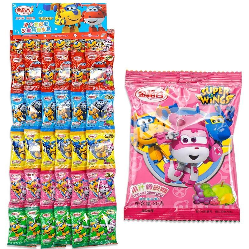 金稻谷果汁橡皮糖QQ糖儿童零食批发