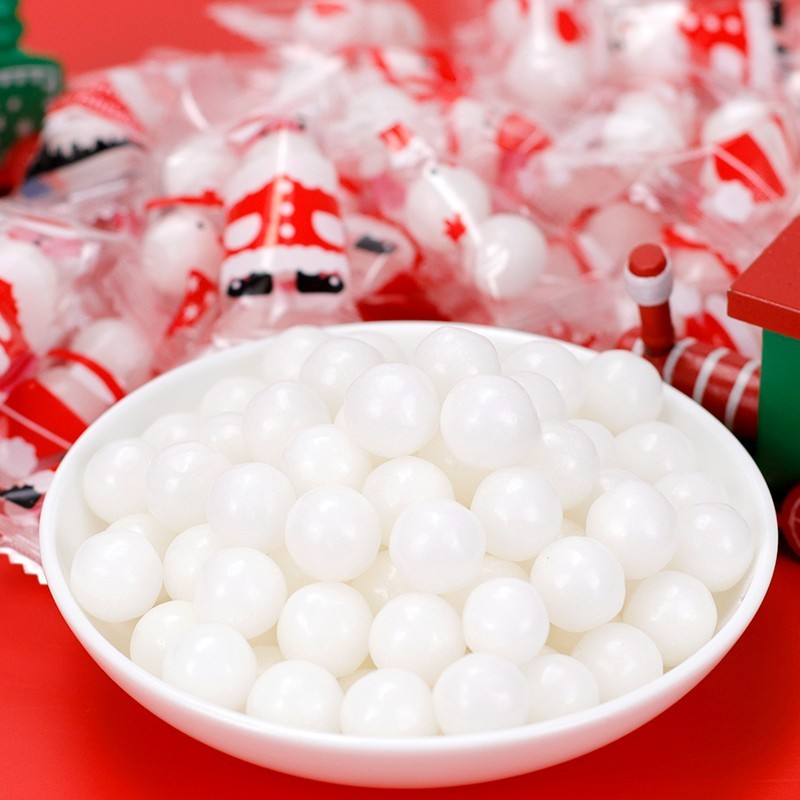 圣诞节糖果雪人雪球薄荷糖批发