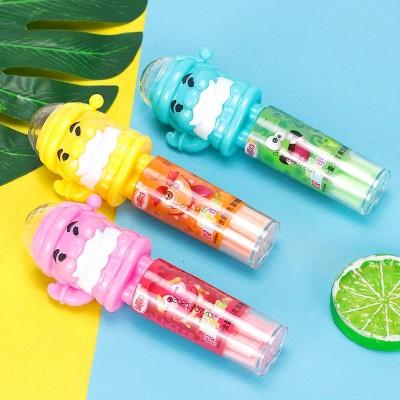 金稻谷15克投影手电筒玩具糖吸管糖卡通投影灯光玩具糖玩儿童零食