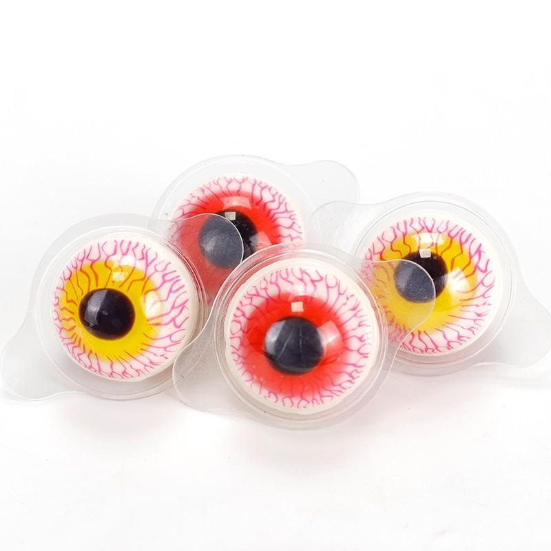 网红爆浆恶搞眼球橡皮糖果批发散装