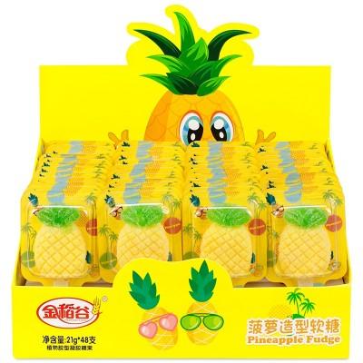 金稻谷菠萝软糖果汁棒棒糖