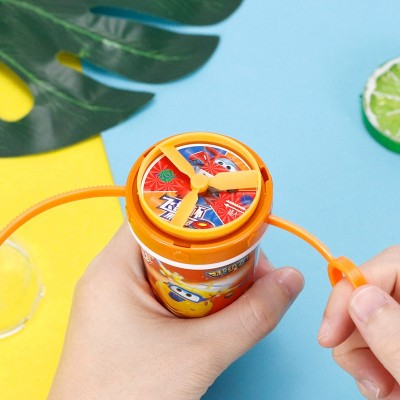 金稻谷40克飞盘杯玩具糖果吸管糖卡通儿童休闲小零食童年回忆
