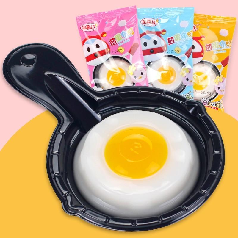 金稻谷煎蛋布丁新品果冻果味儿童玩具哄娃神器